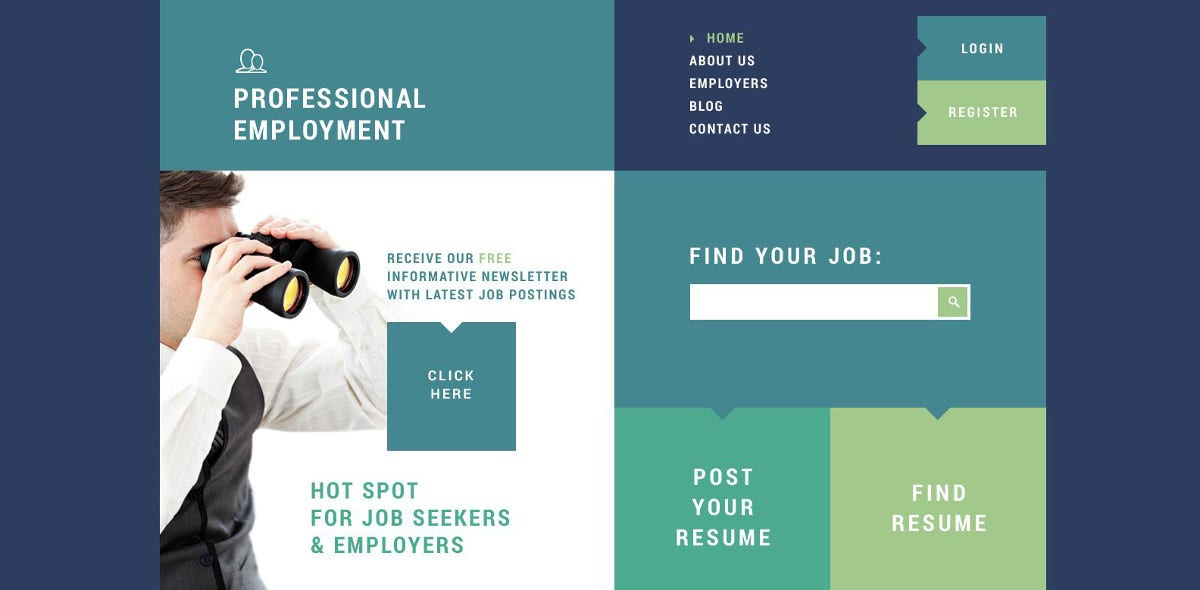 professional employment joomla template 75