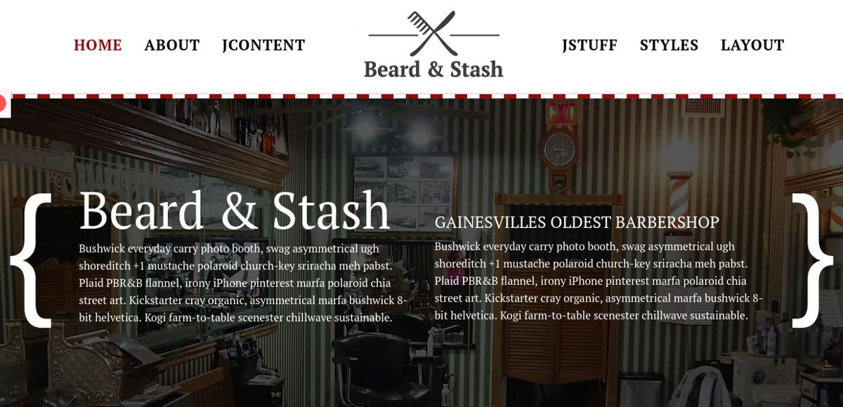 professional barber shop joomla theme 59