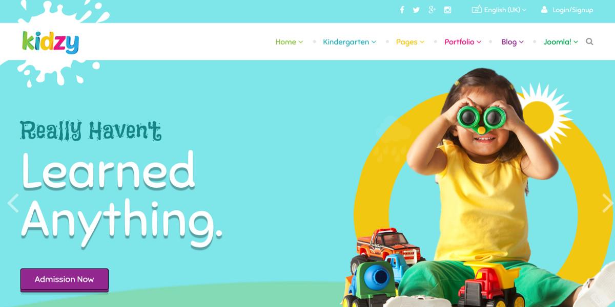 Kindergarten Professional Joomla Theme