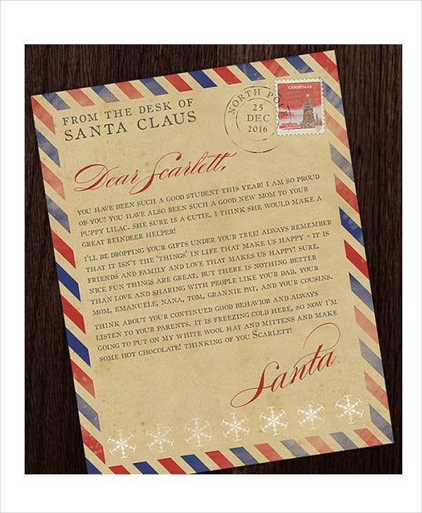 Santa letter template 9 free word pdf psd documents download vintage santa letter template in psd spiritdancerdesigns Image collections