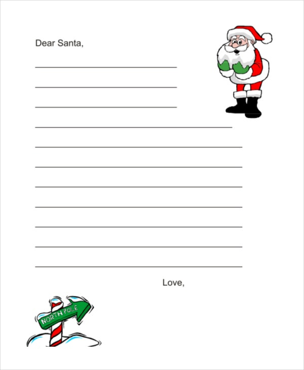 Santa letter template 9 free word pdf psd documents download blank santa letter template download spiritdancerdesigns Image collections