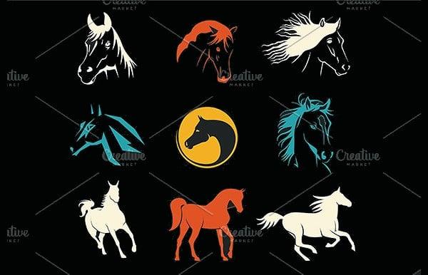 creative horse logo