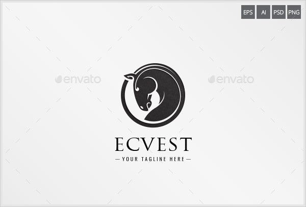 Ecvest Horse Logo