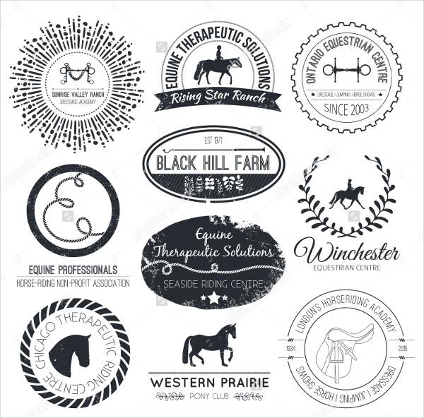equine vintage vector logo