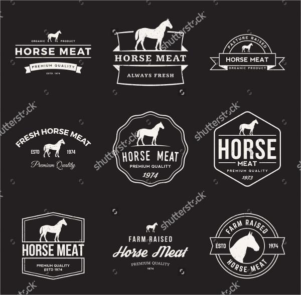 premium horse logo design