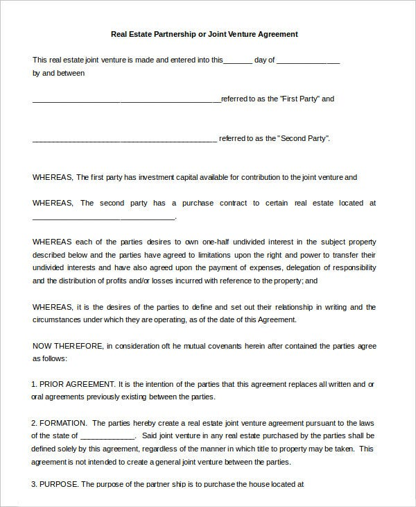 Partnership Agreement - 9+ Free Word, Pdf Documents Download