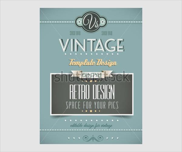 Editable Vintage Retro Poster