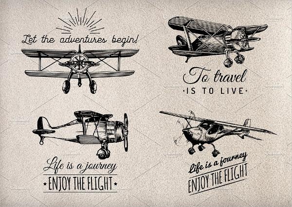 Planes vintage poster