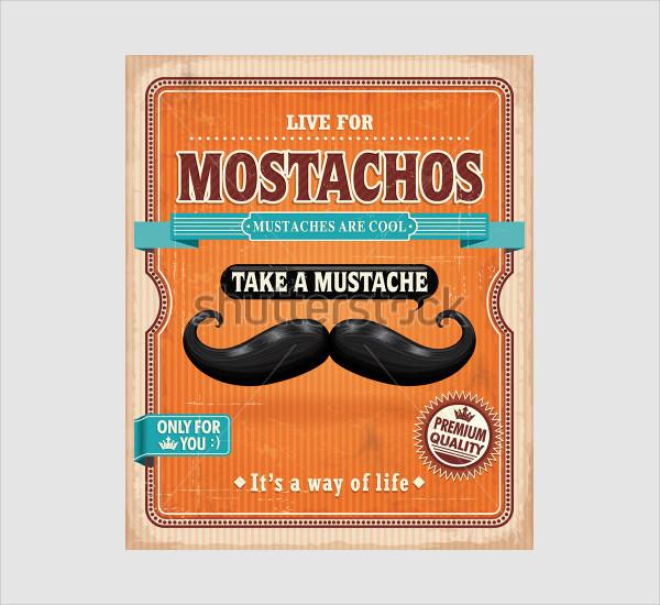 Vintage Mostachos Poster