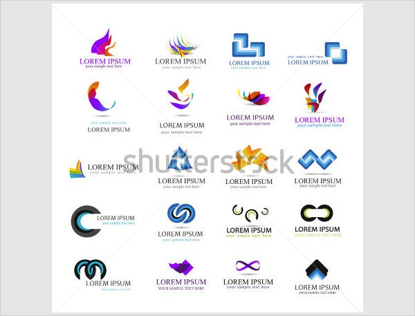 flat business logo design