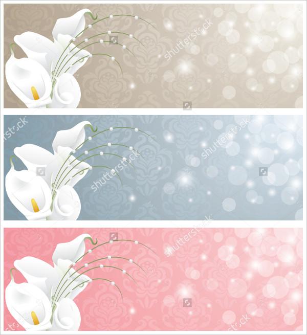 Floral Wedding Banner