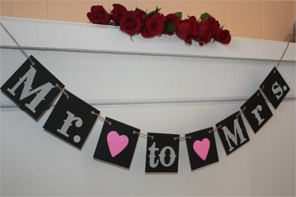 mr mrs wedding banner