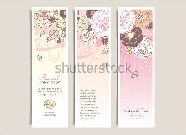printable floral wedding banner