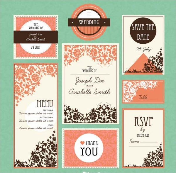 Retro wedding Banner