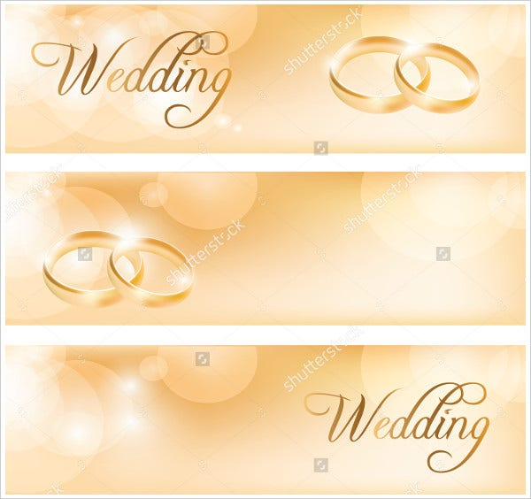 Wedding Banner With Wedding Rinngs