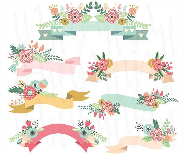 Wedding Floral Banner