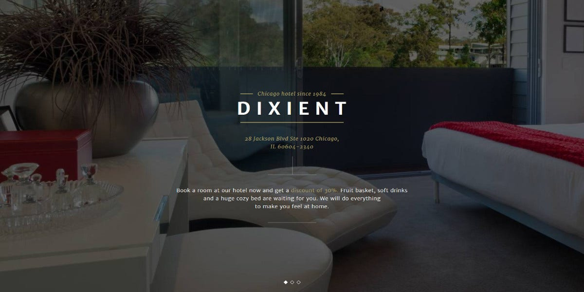 luxury hotels single page website template 14
