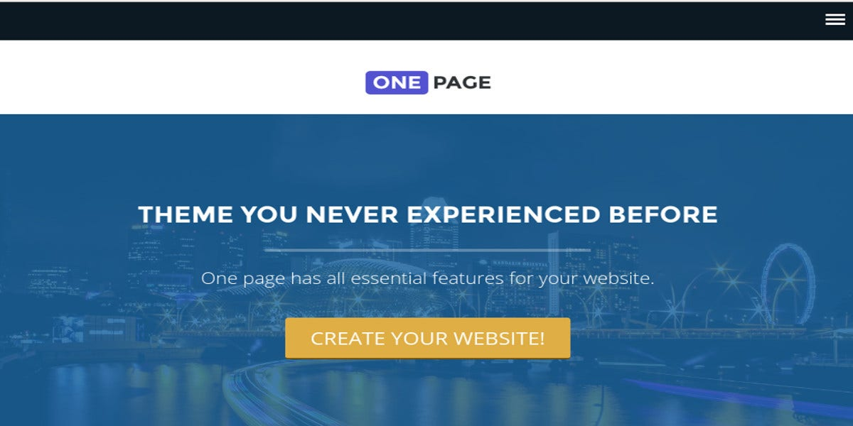 free-professional-one-page-website-theme