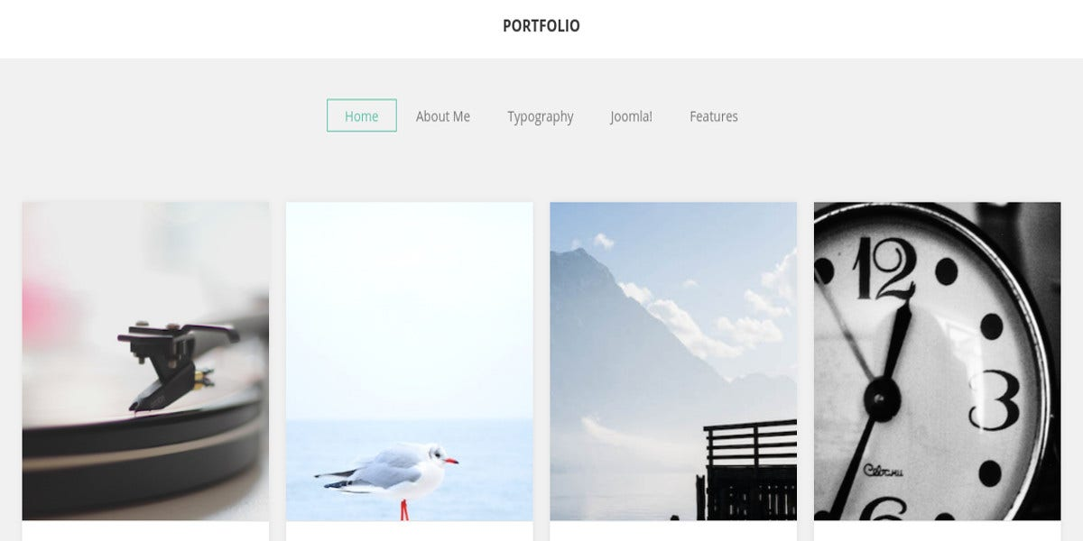 online photography portfolio joomla website theme