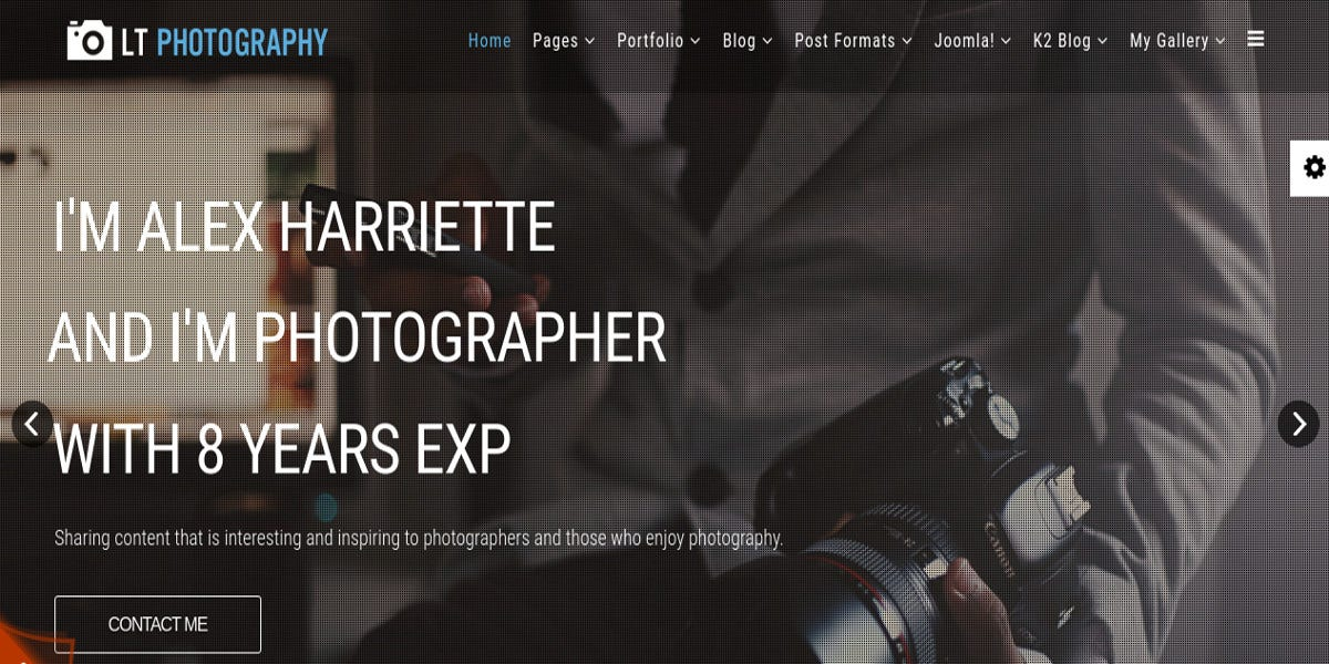 Free Photography Website Themes Templates Free - Free photography website templates