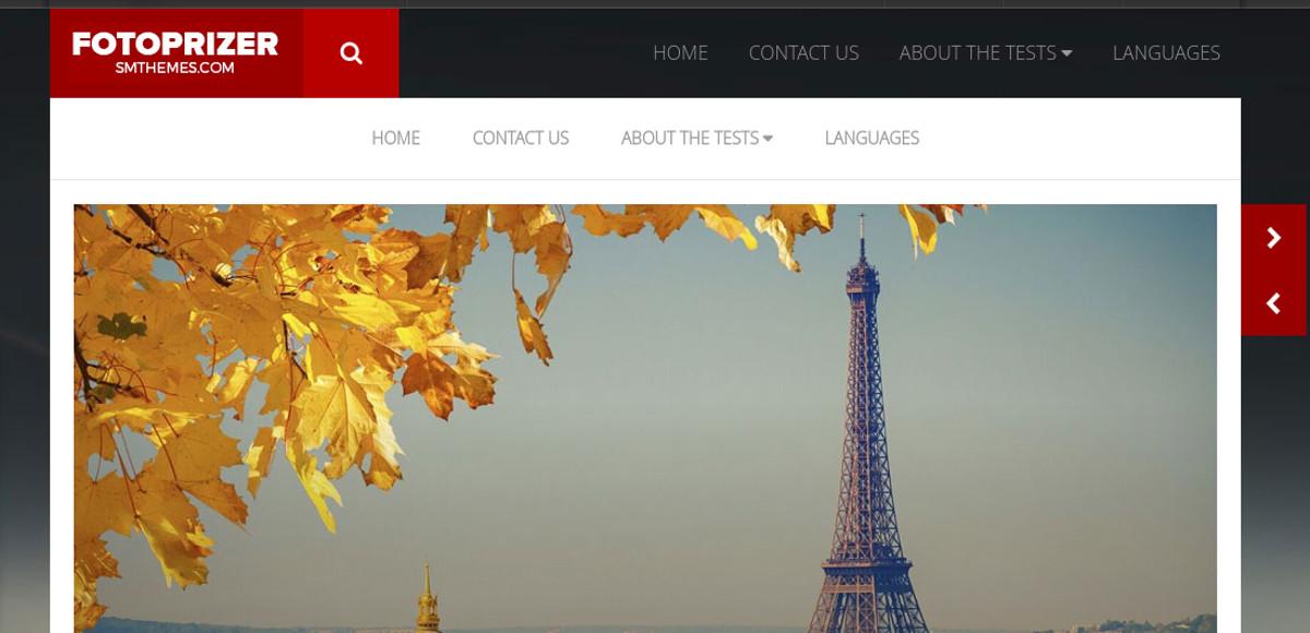 travel photography portfolio wp website theme