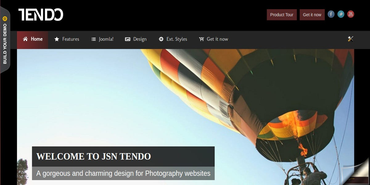beautiful joomla photography website template