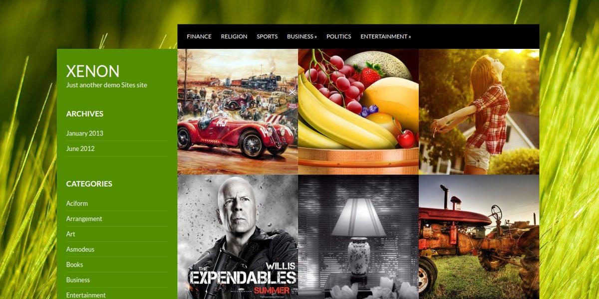 minimal photography website theme