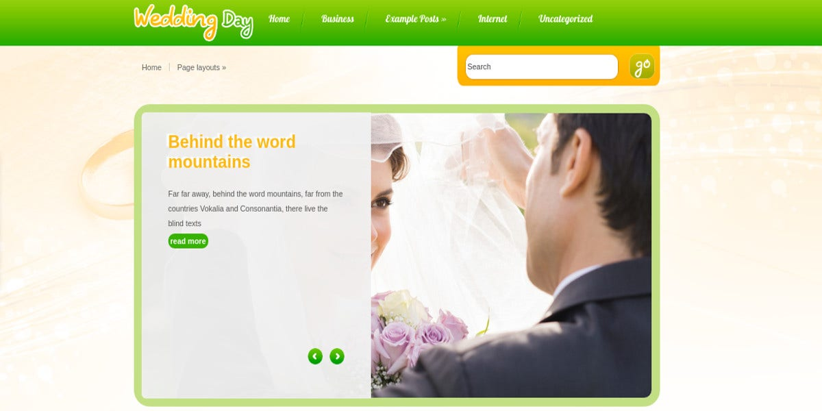 wedding photography wp website theme