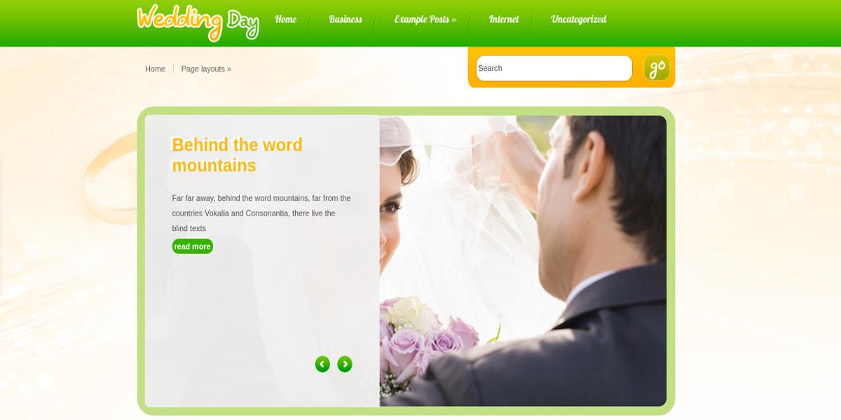 wedding photography wp website theme