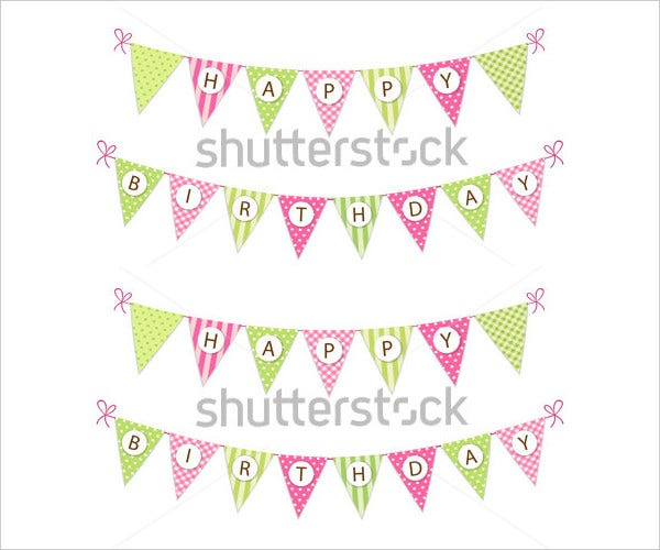 Cute Vintage Happy Birthday Banner