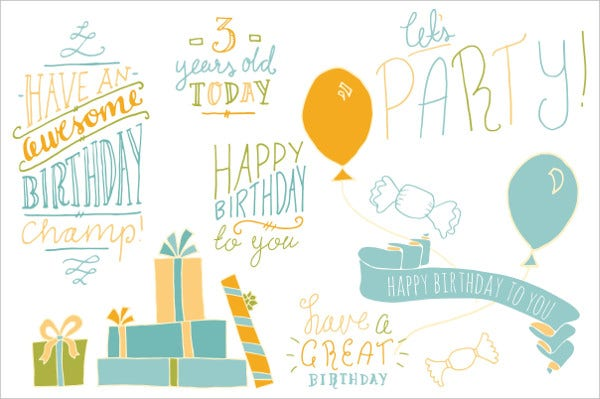 Hand Lettered Birthday Banner