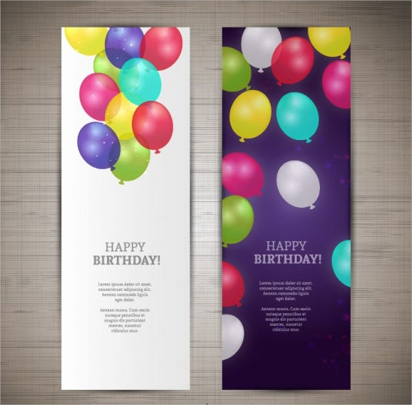 happy birthday banners free vector