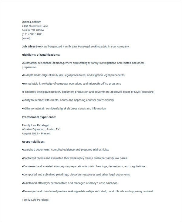 paralegal resume template paralegal resume resume