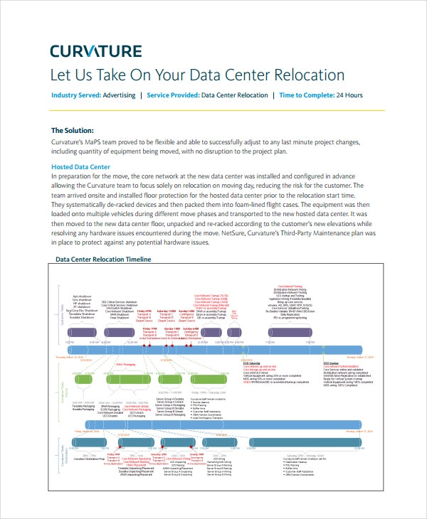 data center relocation project plan template1