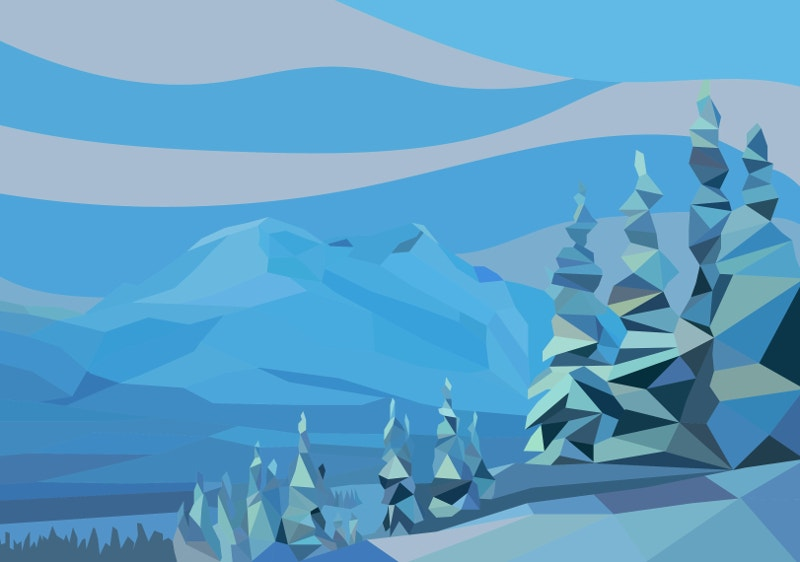 Snowdrift Landscape Illustration