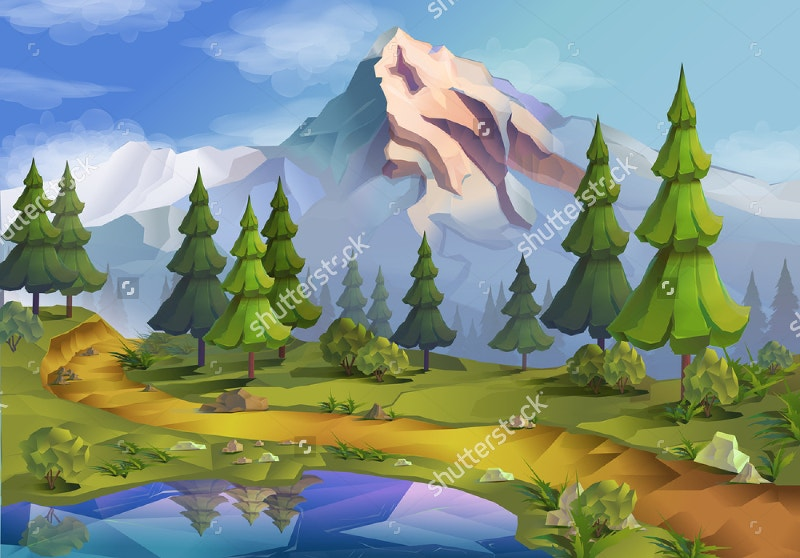 Nature Vector Background Landscape