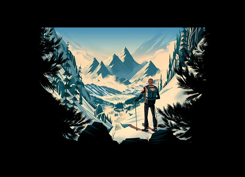 Mountain Digital Art Illustration