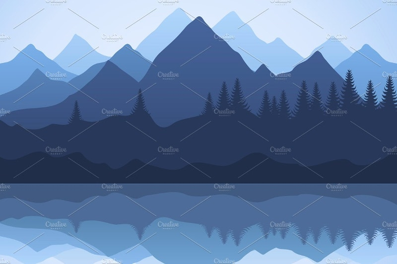 Minimal Landscape Illustration