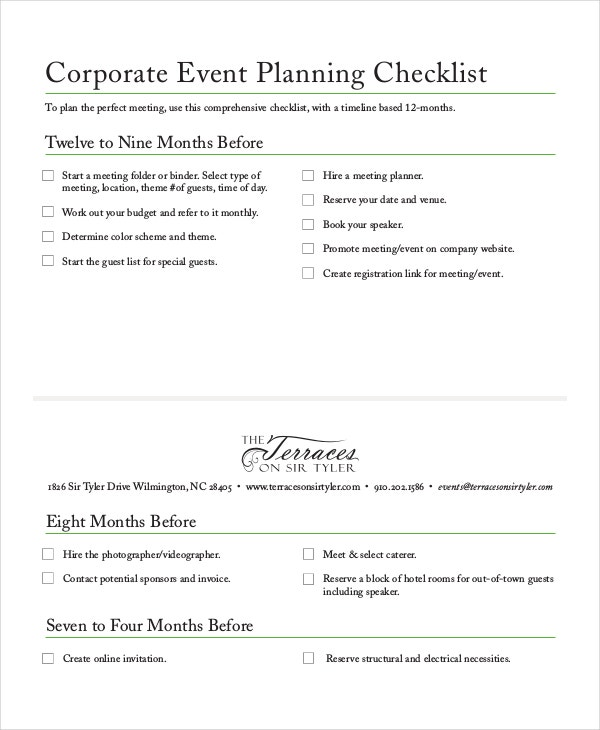 Checklist Template - 19+ Free Word, Excel, Pdf Documents Download