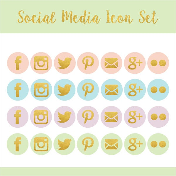 Blog Graphics Social Media Icons