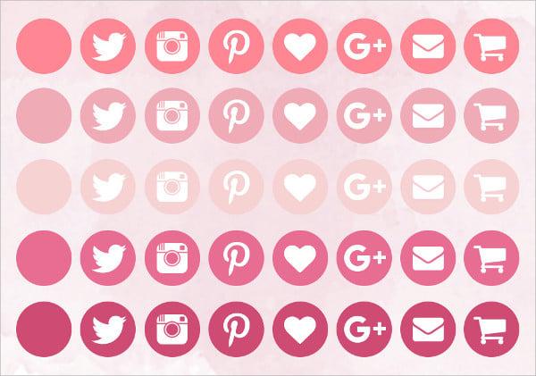 Pink Social Media Icon