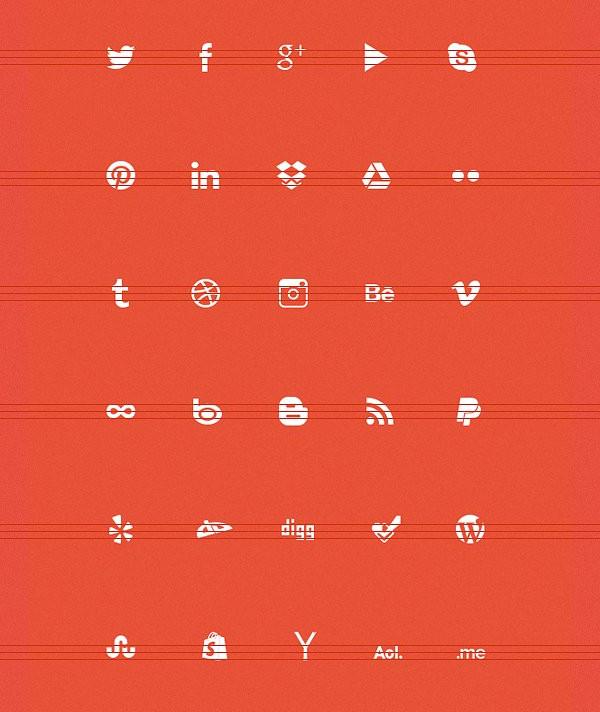 PSD Social Media Icon