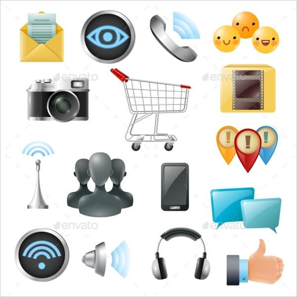 Social Media Symbols Accessories Icon