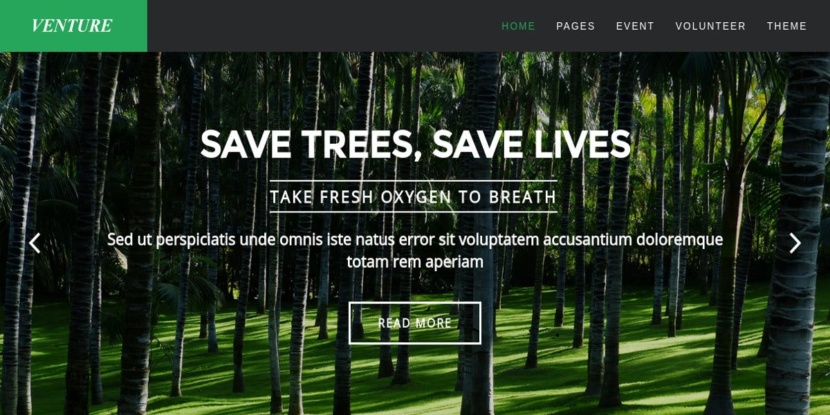 Modern Environmental Joomla Template $48