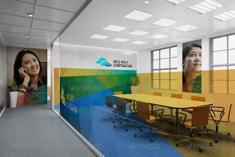 Realistic Office Branding Mockup