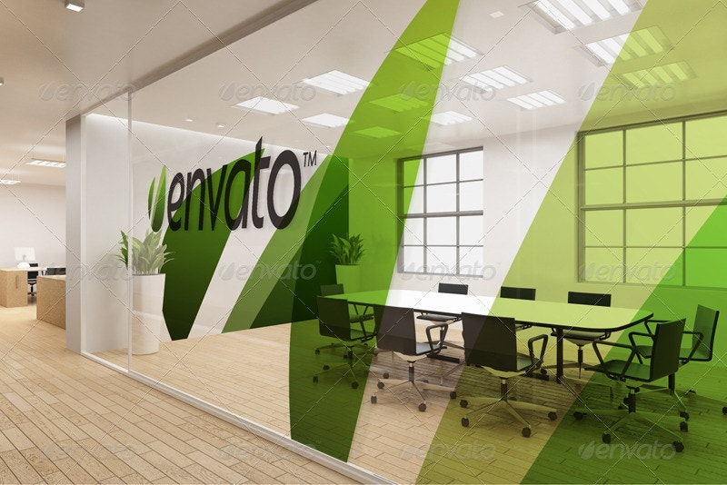 Office Interior Branding Mockup