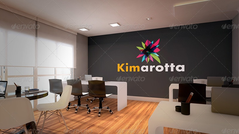 Office Branding Mockup of Interior Design