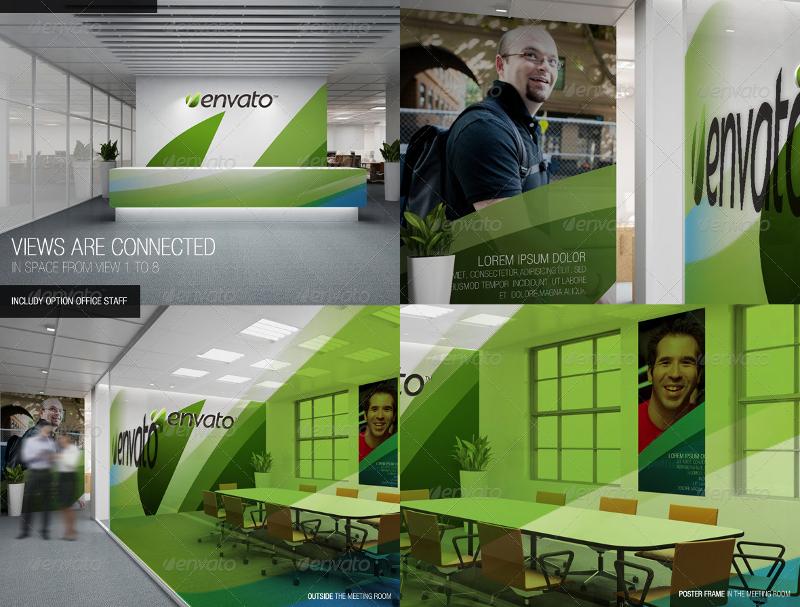 graphic design office branding mockup