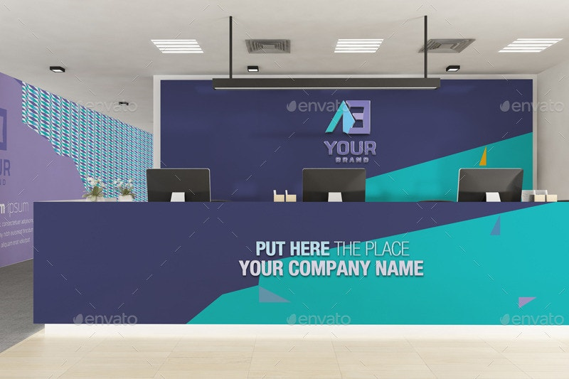 corporate office branding mockup