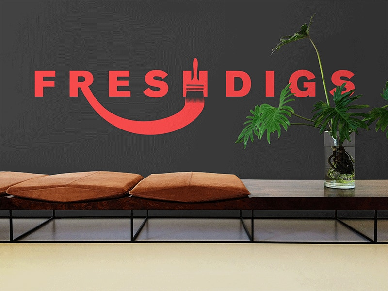 Conceptual Office Branding Mockup